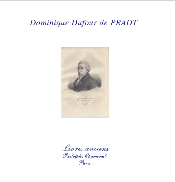 Couverture Catalogue Pradt